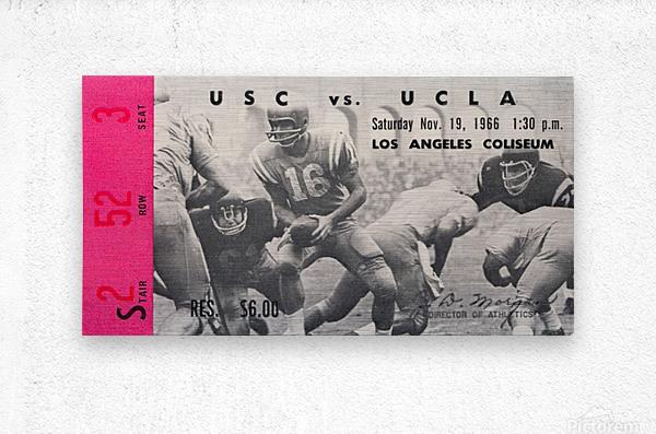 1966 UCLA vs. USC  Metal print