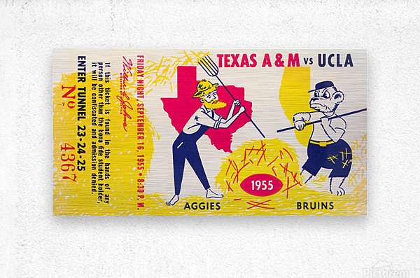 1955 UCLA vs. Texas  Metal print
