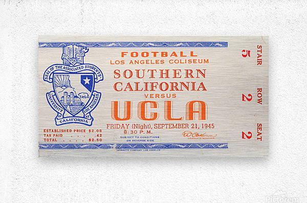 1945 USC vs. UCLA   Metal print