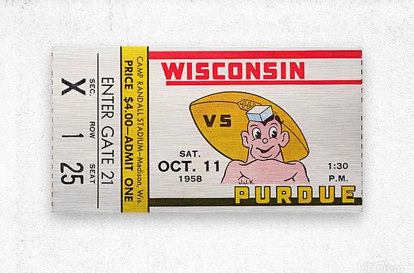 1958 Wisconsin vs. Purdue  Metal print