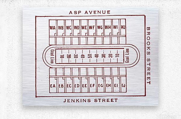 1940 Oklahoma Football Owen Field Map  Metal print