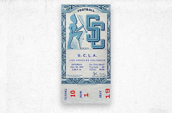 1951 USC vs. UCLA  Metal print