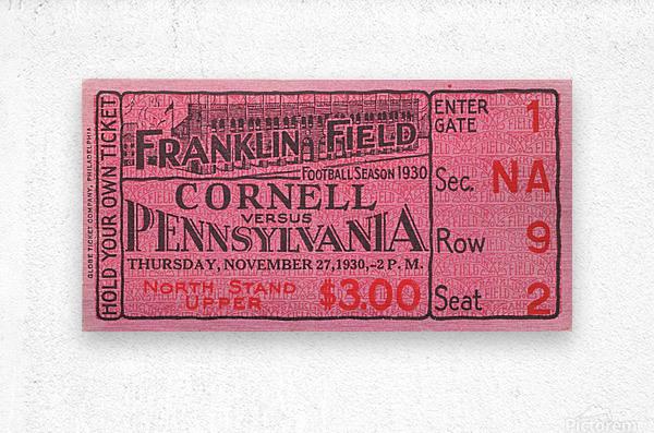 1930 Cornell vs. Penn  Metal print