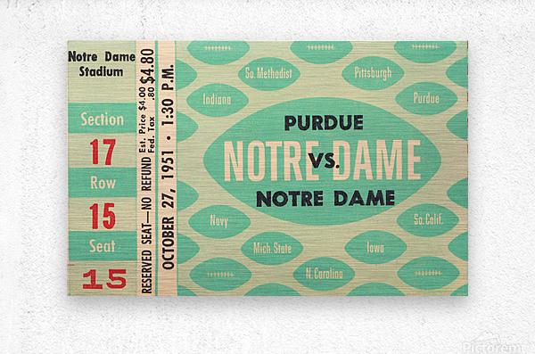 1951 Notre Dame vs. Purdue  Metal print