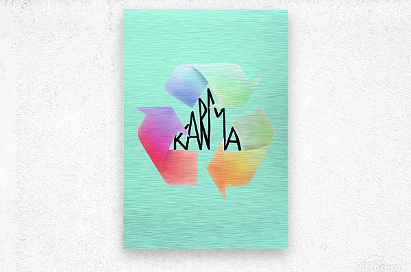 karma  Metal print