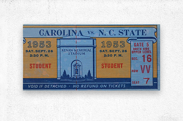 1953 North Carolina vs. NC State  Metal print