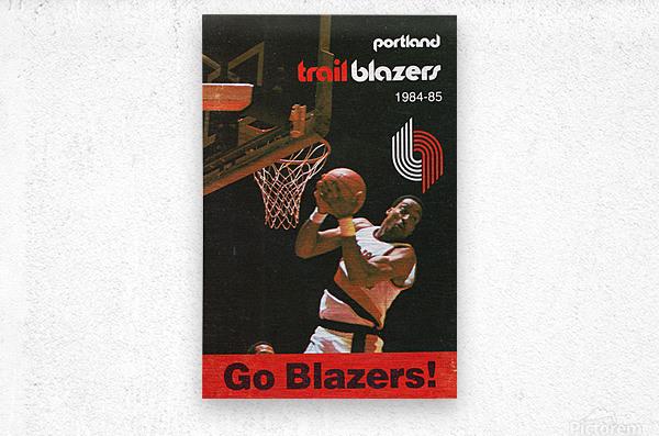 1984 Portland Trailblazers  Metal print