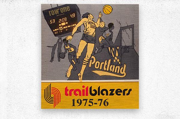 1975 Portland Trailblazers Art  Metal print