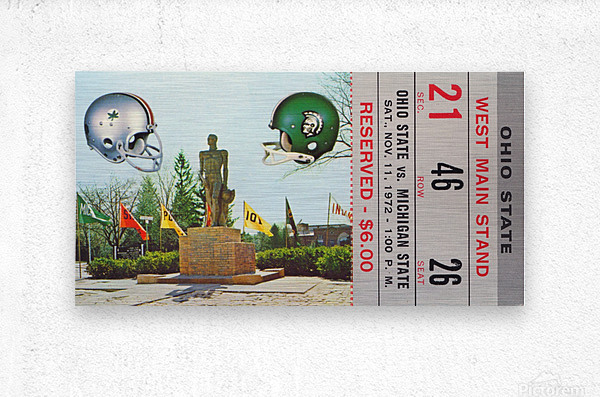 1972 Michigan State vs. Ohio State  Metal print