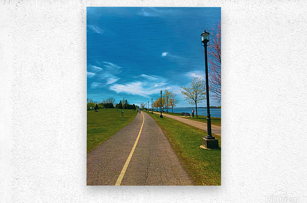 Cycling path  Metal print