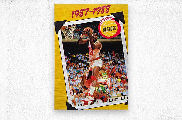 1987 Hakeem Olajuwon Houston Rockets  Metal print