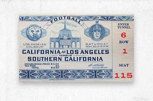 1940 USC vs. UCLA  Metal print