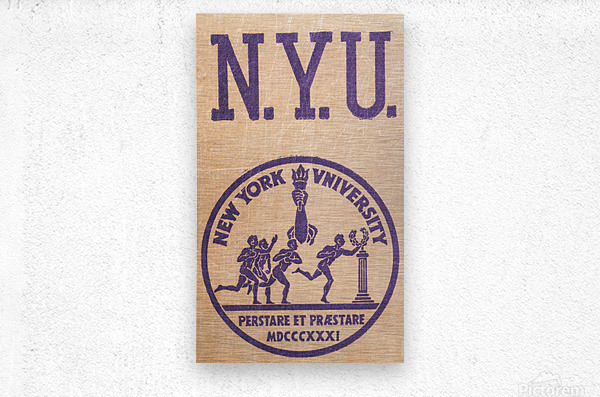 1950s NYU Art  Metal print