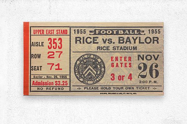 1955 Rice vs. Baylor  Metal print