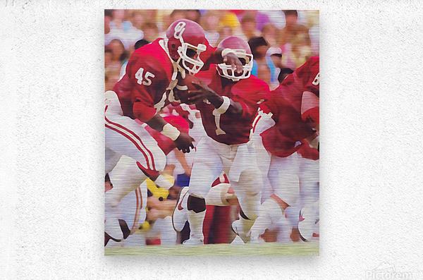 1984 Danny Bradley Oklahoma Sooners  Metal print