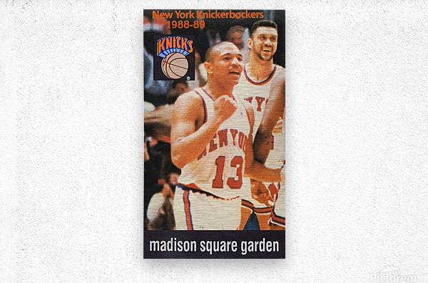 1988 New York Knicks Mark Jackson  Metal print