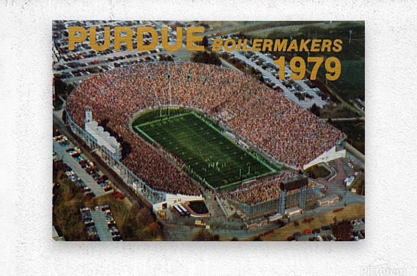 1979 Purdue Ross-Ade Stadium Art  Metal print