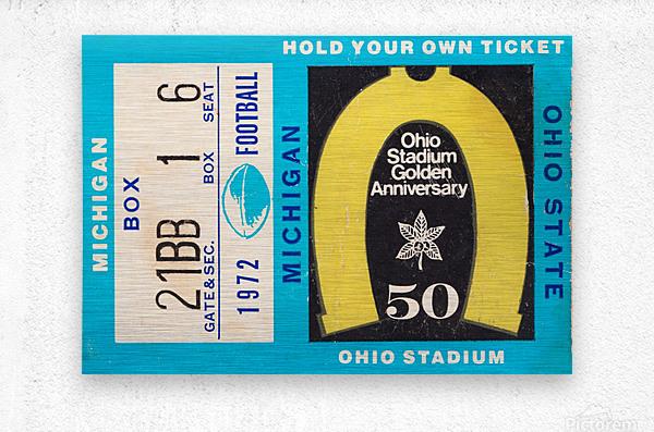 1972 Michigan vs. Ohio State  Metal print