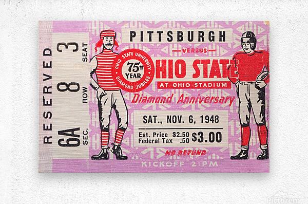 1948 Ohio State vs. Pittsburgh   Metal print