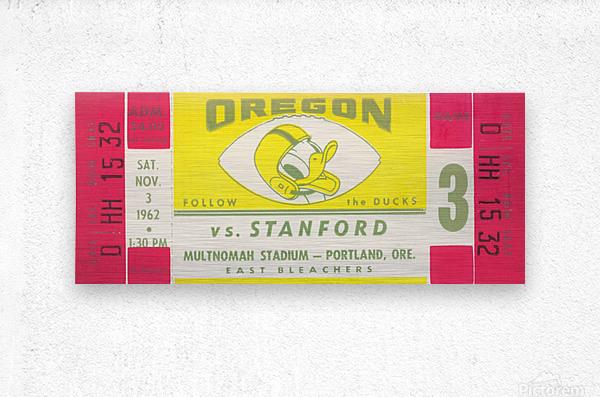 1962 Oregon vs. Stanford  Metal print
