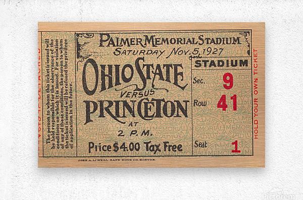1927 Ohio State vs. Princeton   Metal print