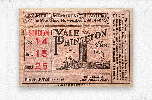 1926 Yale vs. Princeton  Metal print