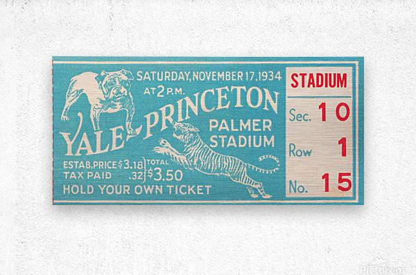 1934 Yale vs. Princeton  Metal print