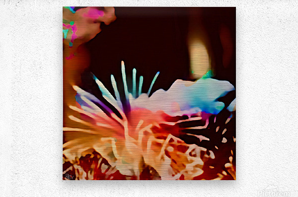 Anemone in the Luminescence Seas of My Soul  Metal print