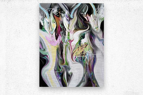 ME NAGE  Metal print