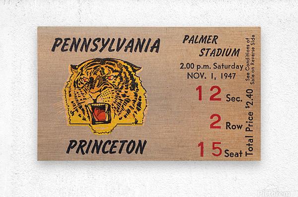 1947 Princeton vs. Penn  Metal print