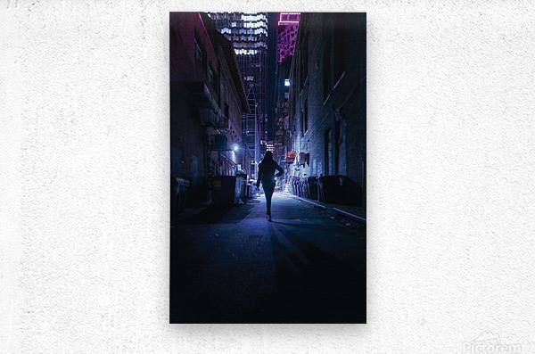 Midnight Girl  Metal print