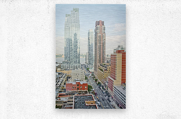 Architectural image of Hells kitchen Manhatten New york USA 2011  Metal print