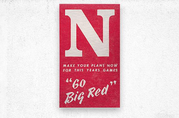 1969 Nebraska Football Art  Metal print