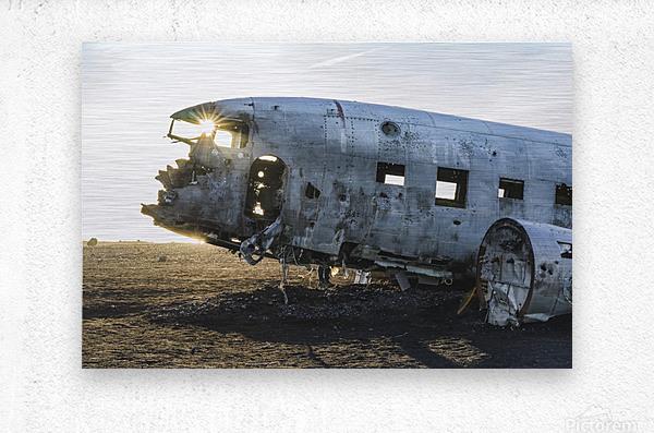 Solheimasandur Plane Crash Southern Region Iceland  Metal print