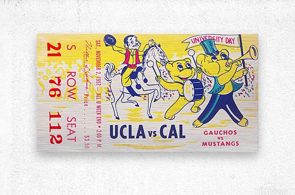 1957 UCLA vs. California   Metal print