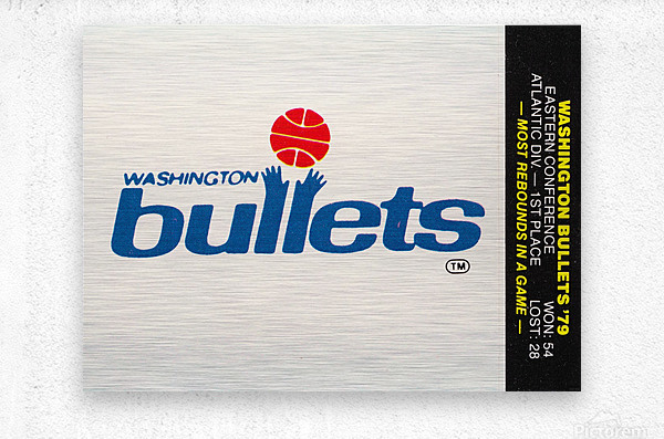 1979 Washington Bullets Fleer Decal   Metal print