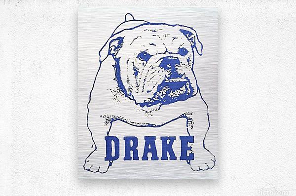 1950s Drake Bulldog Art  Metal print