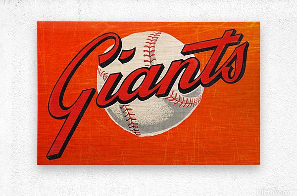 1960s San Francisco Giants Art  Metal print