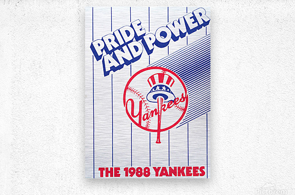 1988 New York Yankees Art  Metal print