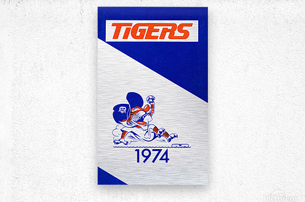 1974 Detroit Tigers Art  Metal print