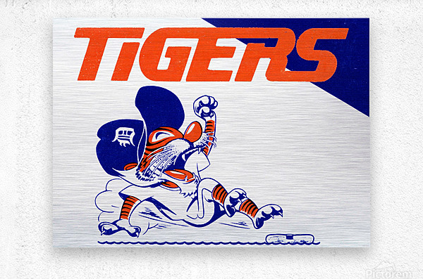 Tigers Cartoon  Metal print