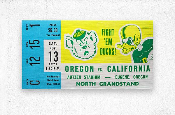 1971 California vs. Oregon  Metal print