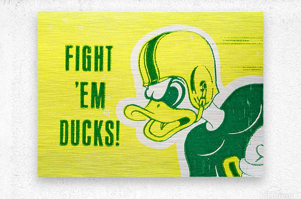 1971 Fight Em Ducks  Metal print