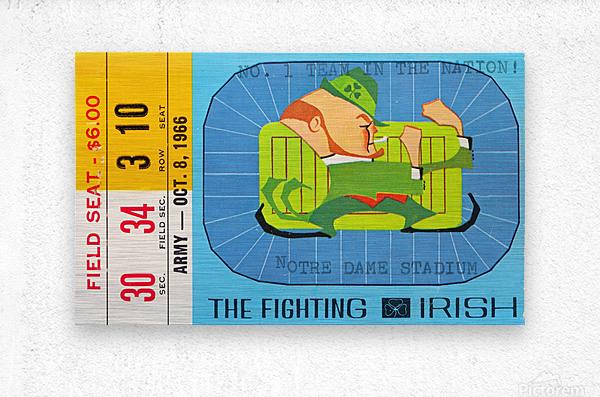 1966 Army vs. Notre Dame  Metal print
