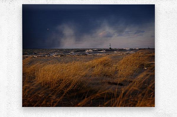 Conneaut Lighthouse Lake Erie Ohio  Metal print