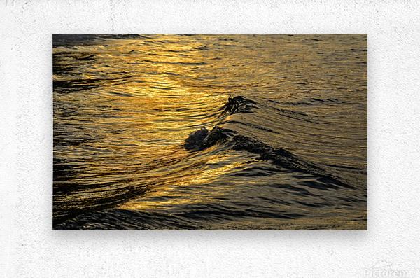 Lake Erie waves 9  Metal print