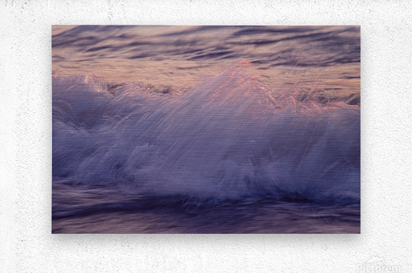 Lake Erie waves 4  Metal print