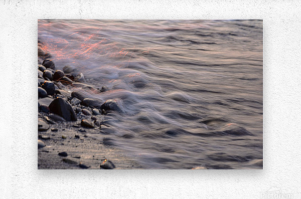 Lake Erie waves 2  Metal print