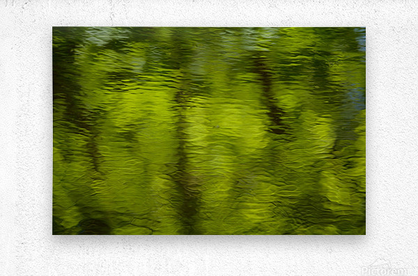 Flowing reflections spring  Metal print
