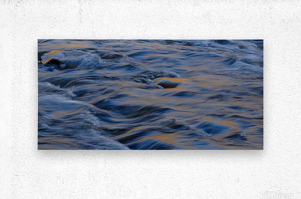 Flowing reflections 3  Metal print